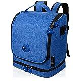 Mochila infantil para caja Toniebox y accesorios, color azul, carga de batería en la funda Toniebox, también adecuada para Tigerbox Touch