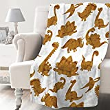 NIUJINMALI Funny Cute Chicken Nuggets Dinosaurs Animals Cartoon Dino Super Soft Fleece Flannel Blankets Birthday Throw Blanket Bedding Outdoor Cover All Season for Picnic Couch 40'x30'