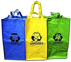 Sini Bolsas Reutilizable Reciclaje para Papel,Envases,Vidrio ...
