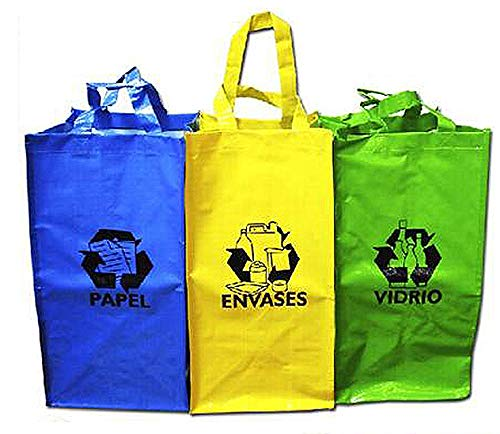 Sini Bolsas Reutilizable Reciclaje para Papel,Envases,Vidrio