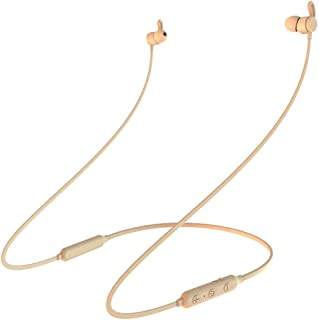 GLJJQMY Sports Bluetooth Headset 4.2 Wireless Stereo in-Ear Magnetic Bluetooth Earphone (Color : Gold)