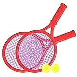 Yialia Juego de Raquetas de Tenis para niños Tenis Divertido para niños con Pelotas para el jardín de su casa Playa Deporte de Entrenamiento Escolar al Aire Libre Juego de Pelota de Raqueta de te