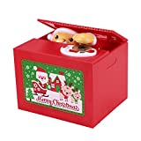 Suns Bell Stealing Coin Bank Money Piggy Bank Santa Claus Box Playing Christmas Song Christmas Gifts for kids