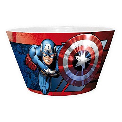 Captain america Marvel Comics–Cerámica Cuenco Cuenco para Cereales–Iron Man VS Caja de Regalo