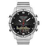 CSJD Sports Smart Watch, Air Pressure Display deep Dive Compass Dual Display 3D Calorie Pedometer Multi-Function Watch