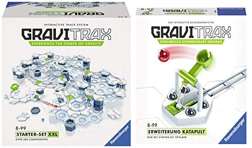 Ravensburger GraviTrax Starterset XXL mit über 100 Bausteinen - Erweiterbare Kugelbahn für Kinder, Interaktive Murmelbahn, Konstruktionsspielzeug ab 8 Jahren