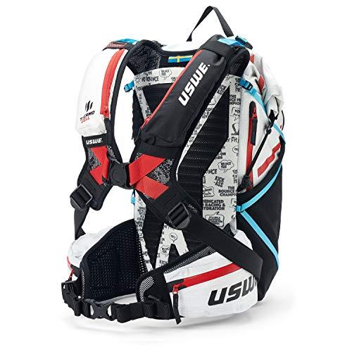 USWE Hajker Pro 30L Leichtgewicht Winterrucksack für Wandern, Ski, Snowboard, Fahrrad mit wasserdichtem Rolltop, für Damen und Herren. Isolierte Schlauchführung mit Frostschutz, Bounce Free, Weiß