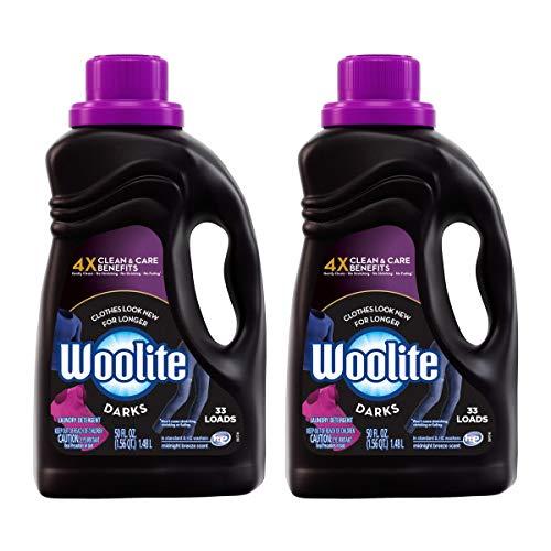 Woolite Dark Care Laundry Detergent, Midnight Breeze Scent, 50 oz/ 25 Loads (Pack of 2)