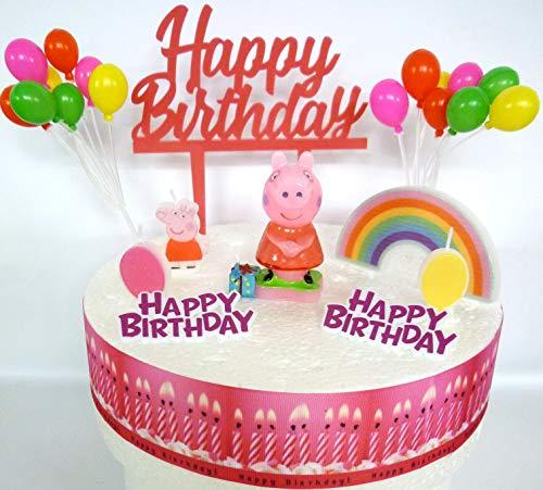 OSK Peppa Pig - Juego de decoración para tartas de cumpleaños
