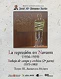 La represión en Navarra (1936-1939) Tomo III. Abárzuza-Huarte: Trabajo de campo y archivo (2ª parte) (1973-1983): 62 (Obras Completas J. Mª Jimeno Jurío)