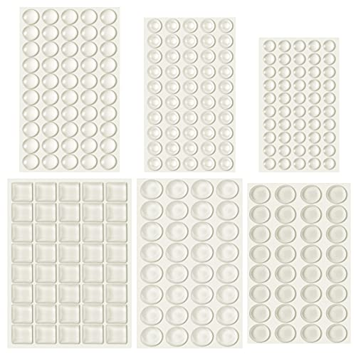 Outus 254 Pieces Clear Rubber Feet Bumper Pads...