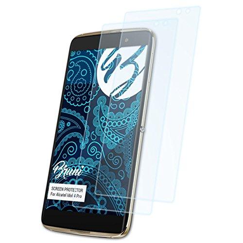 Bruni Schutzfolie kompatibel mit Alcatel Idol 4 Pro Folie, glasklare Bildschirmschutzfolie (2X)