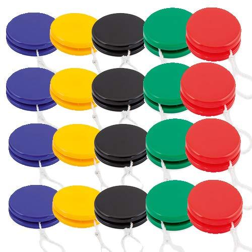 Partituki Pack de 20 Yoyos de Vivos Colores. Idea Genial para Regalos Cumpleaños Niños Clase y Piñatas de Fiestas Infantiles: Amazon.es: Juguetes y juegos