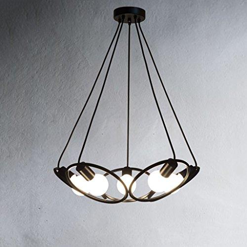 Hanglampen, hanglampen, kroonluchter, industriële lampen, creatief retro woonkamer, eetkamer, slaapkamer, balkon-lamp, Amerikaanse minimalistische gang, café, klompen