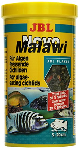 JBL NovoMalawi Alleinfutter für algenfressende Buntbarsche, Flocken 1 l, 30011