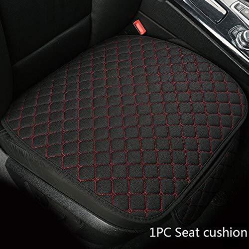 Sunjiaxingzd Funda de asiento de coche, universal, de piel de PVC, transpirable, para reposacabezas, accesorios para regalo, funda protectora universal (color: 1 cojín de asiento)