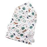 Baby Kapuzenbadetuch Handtuch mit Kapuze Badeponcho 100% Bio Musselin Baumwolle Kapuzenhandtuch mit Gurt 90x90cm Groß Weich Saugfähig für Babys Neugeborene Kleinkinder Junge Mädchen (Waldtiere)