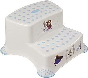 Disney FROZEN Childrens Toilet Training 21cm tall Double Step Stool White