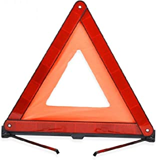 Warning Triangles Kit, Reflective Triangle Sign with Storage Case for Road Safety, Foldable Emergency Reflector Roadside R...