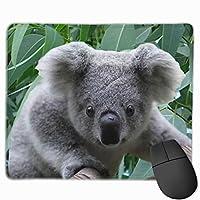 """コアラとユーカリ マウスパッド ゲーミング オフィス高級感 おしゃれ 防水 耐久性が良い 滑り止めゴム底 ゲーミングなど適用 マウスの精密度を上がる9.8""""x 11.8"""""""