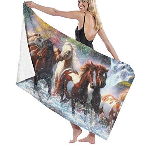 Yaxinduobao Native American Indians Horses Soft Serviette de Bain Highly Absorbent Multipurpose Towels Oversized Serviette de Plage for Travel Bathroom Hotel Gym Spa 31\