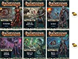 Bundle of Pathfinder Adventure Path Tyrant's Grasp 1 to 6 Plus Two Treasure Chest Buttons