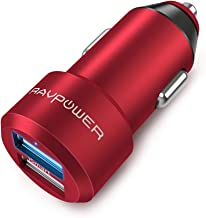 RAVPower カーチャージャー (2ポート 24W/4.8A 急速充電) iPhone/iPad/Android/IQOS 等対応 RP-VC006(赤)