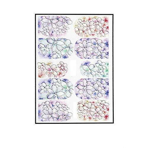 3D gravierte Blumen-Acrylnagelaufkleber Nagel-Aufkleber prägeartiges Blumen-Wasser 3D Bronzing Silber Nail Sticker Set DIY TraumFänger Nail Art Decals Nägel Dekoration Maniküre Werkzeuge