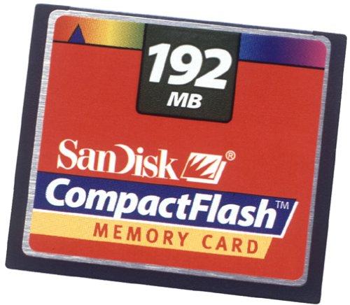 SanDisk 192 MB CompactFlash Card (SDCFB-192-455)