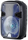"""QFX PBX-1205-BL Rechargeable 12"""" Party Speaker with Stand and Microphone - Blue"""
