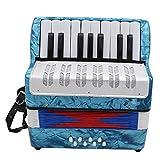 NERB 17 Touche 8 Professional Bass Mini Accordéon Instrument de Musique Accordéon éducation celluloïd for Les Enfants Adultes (Color : Light Blue)