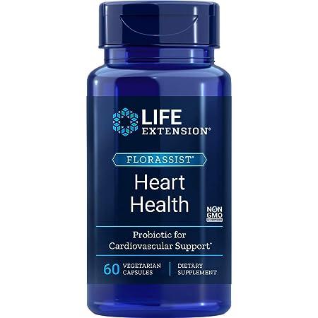Life Extension Florassist Heart Health Probiotic, 60 Vegetarian Capsules