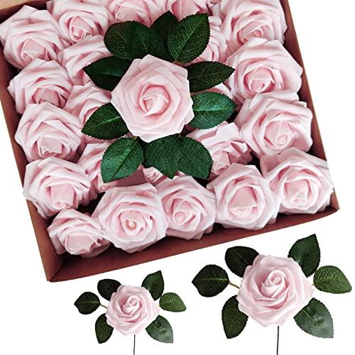 AROMUJOY Roses Artificielles Fleurs Artificielles 50 pcs Mou