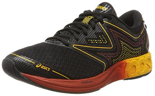 Asics Noosa FF T722n-9004, Zapatillas de Running Hombre, Negro (Black/Gold Fusion/Red Clay), 41.5 EU