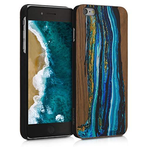 kwmobile Apple iPhone 6 Plus / 6S Plus Cover - Custodia Protettiva in Legno - Back Case Posteriore per Smartphone Apple iPhone 6 Plus / 6S Plus