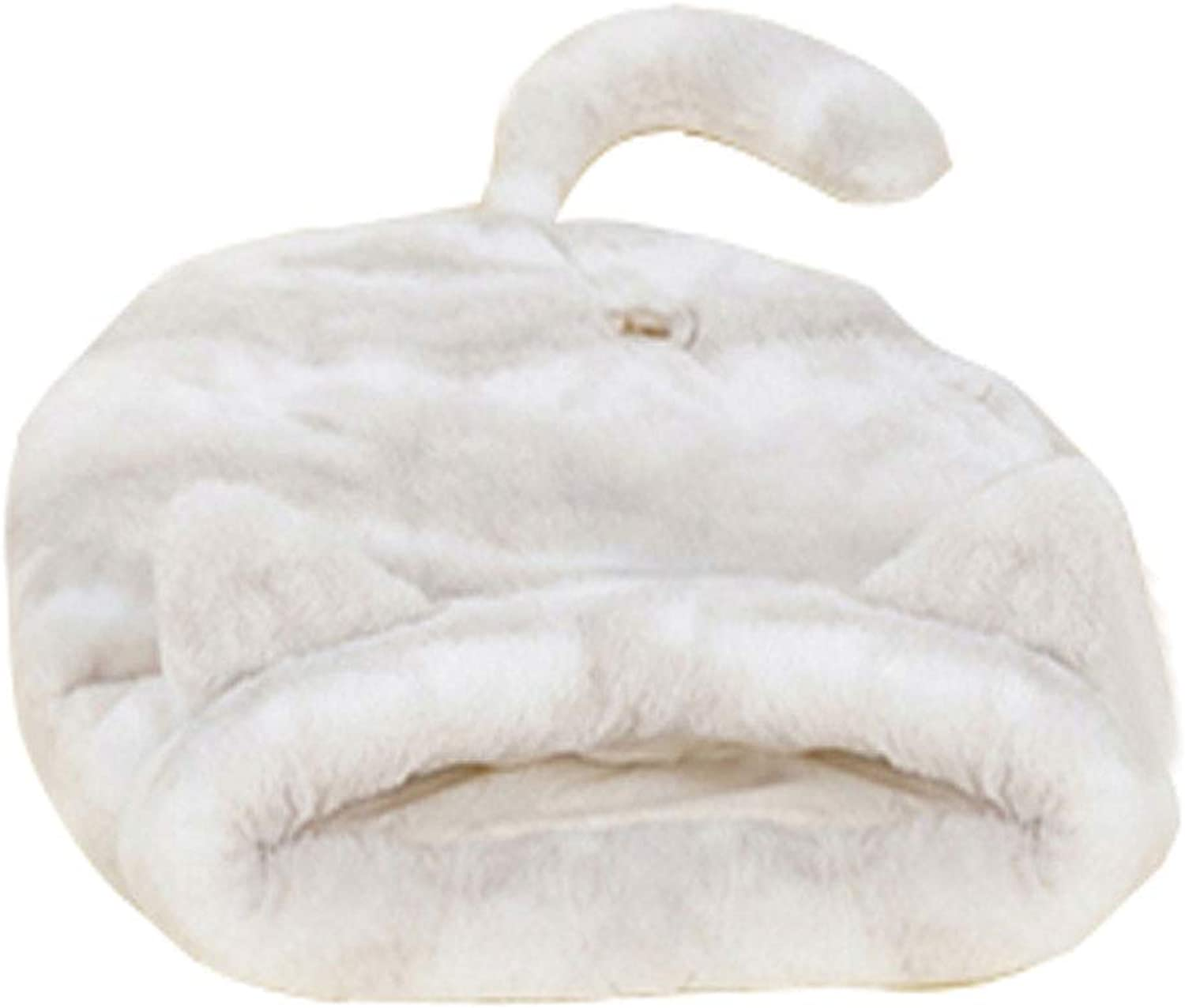 GCHOME dog bed Cat Bed,Washable Nonslip Dog Bed Cat Nest,Breathable Removable Plush Warm Cat Sleeping Bag, Indoor Small Pet Nest (color   White)