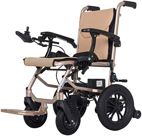 Rollstuhl für Mobilitätshilfe, Rollstuhl elektrisch betriebener Rollstuhl Folding Leichtes 16Kg, Sitzbreite 45 cm, abnehmbarer Lithium-Batterie Mobilität Stuhl, motorisierte Rollstühle, Geländer Adjus