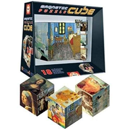 Educa Borrás Cube Magnetic Puzzle Obras Arte