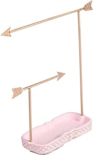 Ikee Design Metal Jewelry Display Jewelry Stand Hanger Organizer for Necklace, Bracelet, Earrings, Ring