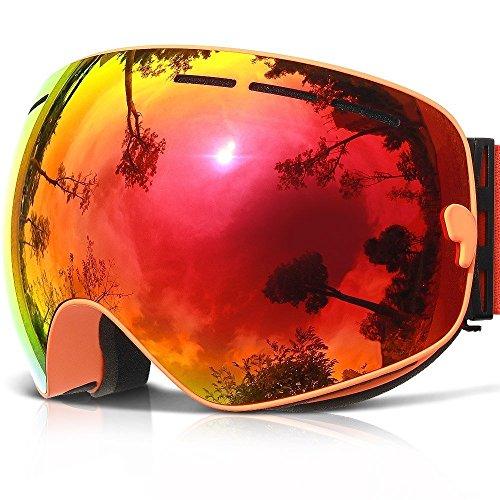 CHEYENNE Gog de 201 Esquí Snowboard Gafas - Anti-Fog, antiarañazos, anti UV 400 OTG - Gafas de esquí, snowboard, Dual Layer desmontable lente, Pink (VLT 25.4%)