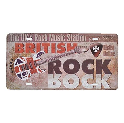 Eureya der Britischen Rock Musik Station Neuheit License Plate Metall Schild Bar Pub Garage Abendessen Cafe Home Wall Decor 15x 30cm