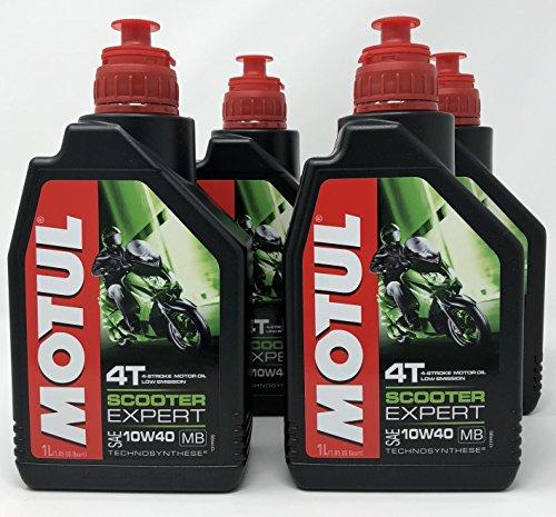 Aceite Moto 4 Tiempos - Motul Scooter 4T 10W-40 MB, 4 litros (4x 1 lt)