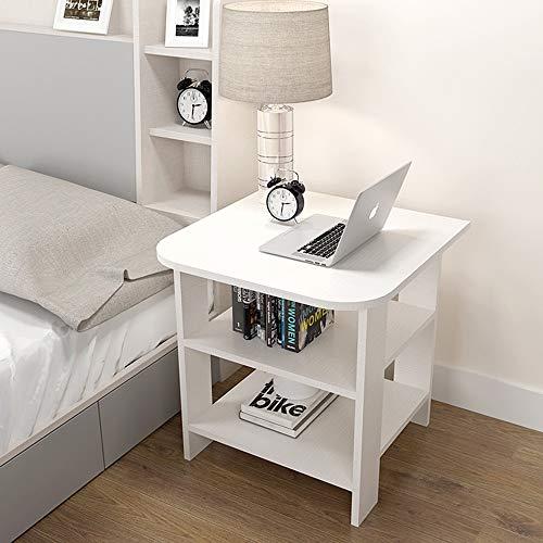 Tables FEI - Bureau d'ordinateur Sofa d'appoint Basse multifonctionnelle à Deux Niveaux avec Support de à Fleurs pour Tous Les postes de Travail (Couleur : C, Taille : 50 * 50 * 60cm)