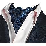 YCHENG Pañuelo Hombre Ascot Paisley Floral Corbatas Vintage Cravat Chalina Banquete Fiesta D04