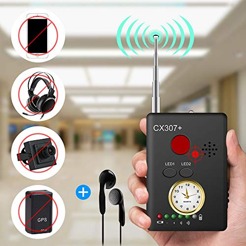 Anti Spion Signal Bug Detector Drahtlose,Anti-Tracking-Anti-Monitoring-Anti-Location, GPS-Signal-Detektor, Rf Signal Detector Spy Versteckte Spion Kameraobjektiv Tracker Empfindlichkeit Einstellbar