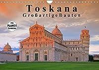 Toskana - Grossarige Bauten (Wandkalender 2022 DIN A4 quer): Dieser Kalender zeigt bedeutende Bauwerke in der Toskana. (Geburtstagskalender, 14 Seiten )