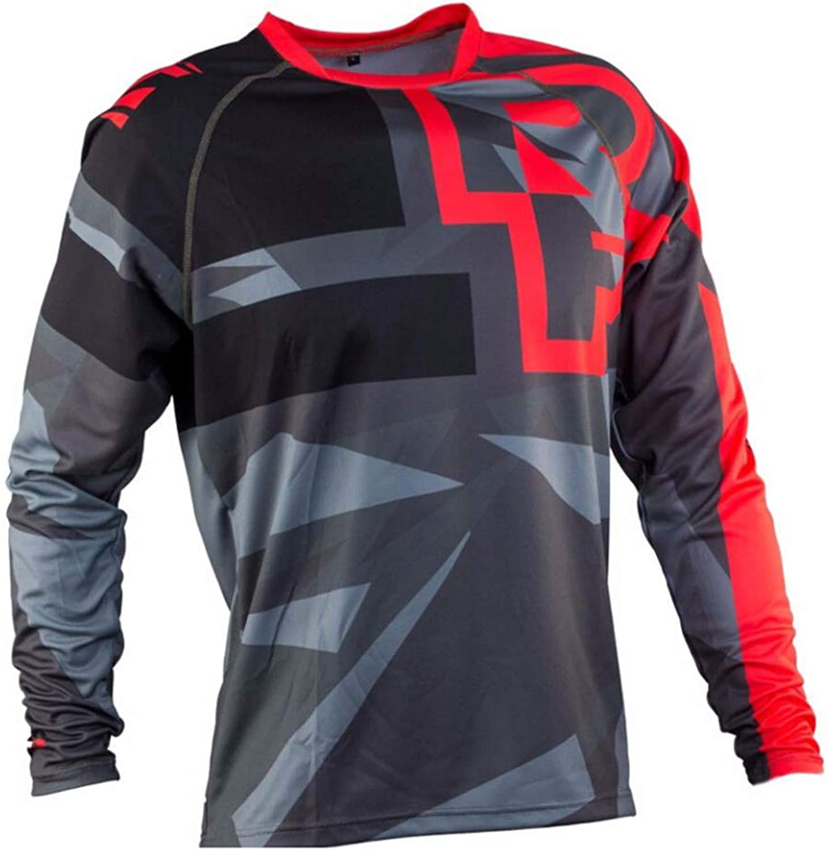 HaixclvyE Unisex Bike Cycling Jersey Long Sleeve TShirt Motorcycle Motocross TShirt Long Sleeve MTB Cycling Clothing