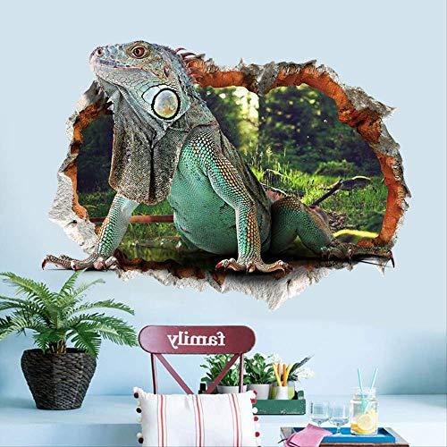 Autocollant Mural Sticker Mural Imperméable Stéréoscopique 3D Animal World Lizard, Peut Retirer Le Sticker Mural Décoratif Pour Chambre D'Enfants Pvc