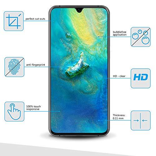 Bigmeda Schutzfolie für Huawei Mate 20, Blasenfrei, Anti-Kratzen, Anti-Öl, HD Klar Flexible Displayschutzfolie für Huawei Mate 20 Folie [3 Stück] - 2