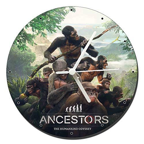 MasTazas Ancestors The Humankind Odyssey Horloge Murale Wall Clock 20cm